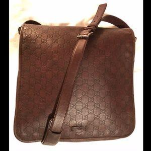 Vintage Guccissima Leather Messenger Crossbody
